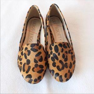 Sole Society Nitsa Leopard Loafers